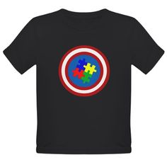 Captain Autism T-Shirt on CafePress.com  for Autism Awareness Month