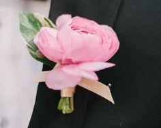 Wedding Pink Boutonniere Ideas