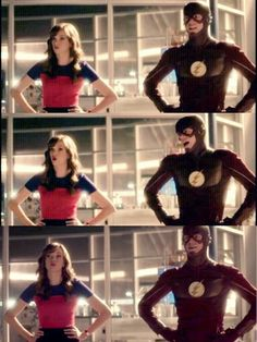 Twinning it...Barry and Caitlin The Flash 2x03 Snowbarry