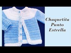 Baby Boy Set: How to crochet newborn star stitch sweater jacket -cardigan Crochet for Baby – Crochet Stuffed – baby sweaters Crochet Baby Sweater Pattern, Crochet Baby Sweaters, Baby Sweater Patterns, Crochet Baby Cardigan, Crochet Baby Clothes, Newborn Crochet, Crochet Jacket, Baby Knitting, Crochet Cowel