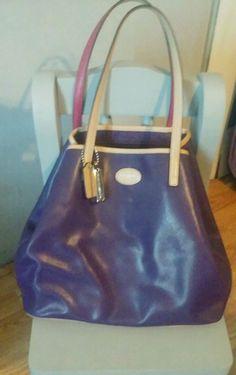 Coach Park Metro Large Tote Bag Purse Purple/Blue Saffiano Leather msrp $328 #Coach #TotesShoppers