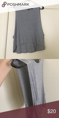 Grey volcom tank!!! Low cut on sides, super cute with bralette underneath Volcom Tops Tank Tops