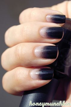 Black Gradient nails - so dope.