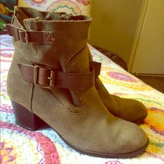 Green/ greyish booties Cute booties. Worn a couple times. In good conditions ! They go great with everything. Dolce Vita Shoes Ankle Boots & Booties