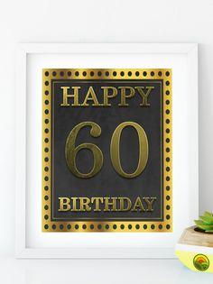 Items similar to Happy Birthday 55 Gold birthday sign birthday party Printable Gold party decor print birthday decoration on Etsy Happy 80th Birthday, 40th Birthday Parties, Gold Birthday, 50th Birthday Decorations, Gold Party Decorations, Sign, Printable, 30th, Birthdays