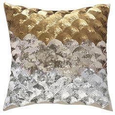 The Land of Nod | Sequins Metallic Throw Pillow