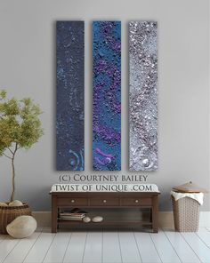 Concrete abstract painting Large CUSTOM abstract by Courtney Bailey