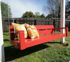 Would really like me a porch swing.