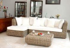 grey+rattan+furnitre | Living Room Furniture /Natural wicker kubu grey Sofi corner Sofa