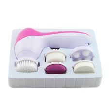 Deep Clean Electric Facial Cleaner Face SPA Skin Brush Massager Scrubber Pink | eBay