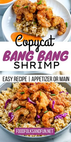 This Bang Bang Shrimp recipe is a copycat of Bonefish Grill's dish. It's easy to make, and you can serve it as an appetizer or main dish. Chili Recipes, Copycat Recipes, Crockpot Recipes, Shrimp Recipes Easy, Seafood Recipes, Baked Stuffed Shrimp, Bonefish Grill, Bang Bang Shrimp, Potluck Recipes