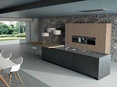 Moderne Küche / Holz / Kochinsel / lackiert SIGNUM QUADRA Lineaquattro
