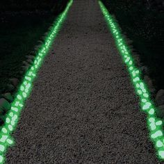 Spice up gardens, walkways or flower beds with these pebbles made from glow-in-the-dark plastic resin. Environmentally friendly, these pebbles store solar energy, producing a cool blue or green glow when the sun goes down. Use them for outdoor accents, party decor, awesome aquarium stones, or outdoor walkway guide lights. Your order will contain 1 package of 100 stones.If you're decorating a large outdoor area, we recommend purchasing multiple packs.The stones will appear as white resin...