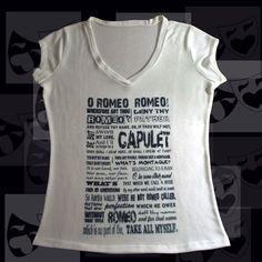 TEATRO ROMEO Romeo and Juliet: Act 2, Scene 2, Page 2 Camiseta Feminina Tamanho Unico: Veste Tamanho 36 a 40 Malha Tricot Viscofit Stretch Heavy Composição: Elastano: 4% Poliester: 96%