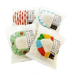 Colourful but simple packaging of Tsukiji Chitose manjū confection is just lovely.