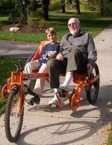Ricksycle 21 Speed Folding Recumbent Tandem Tricycle