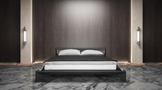 Bedroom modern style wood mix marble  3d rendering Non brand,sketches.All completely new design