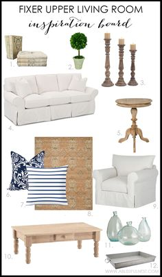 Get the design details of one of our favorite Fixer Upper living rooms! We break…