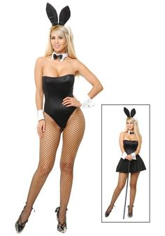 This Sexy Playtime Bunny Costume is the perfect way to entertain your man, for Halloween or any costume event.