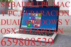 Problemas con tu Mac,tambien lo solucionamos,tambien con pc Windows,todo en informática entra ahora. Facebook.com/sabadellpc