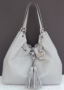 NWT Authentic Michael Kors Camden Large Leather Drawstring Shoulder Tote ~$398 Current Bid: $220.00