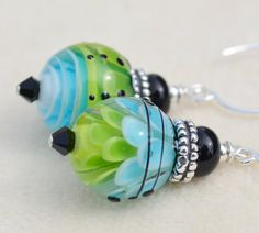 ALWAYSHandmade Lampwork and Sterling Silver Earrings by livilubaby, $40.00