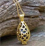 Gold Filigree Locket and Recycled Glass Pendant Necklace - features reclaimed antique and vintage glass from mason jars, depression era glass, noxzema and ponds bottles.