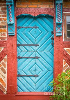Old Swedish Door Print By Inge Johnsson