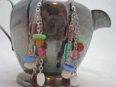 Multicolor Glass Bead Earrings by GoosesGoldenEggs on Etsy, $8.00