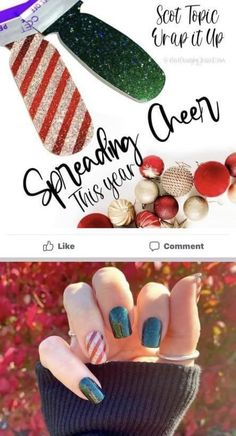 Christmas Colors, Christmas Stuff, Mani Pedi, Manicure, Wooden Roses, La Nails, Sassy Nails, Bear Claws, Color Street Nails