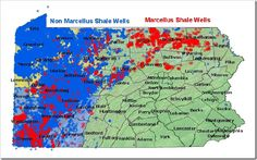 Areas of Marcellus & Non-Marcellus Drilling in PA