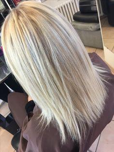 Résultat parfait, blond polaire avec olaplex !!