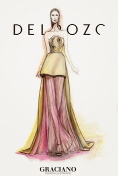 GRACIANO fashion illustration: DELPOZO SPRING 2015 #NYFW| Be Inspirational ❥|Mz. Manerz: Being well dressed is a beautiful form of confidence, happiness & politeness