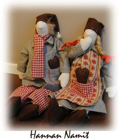 Tilda-tontut. elf sewing. soft toys. christmas decoration.