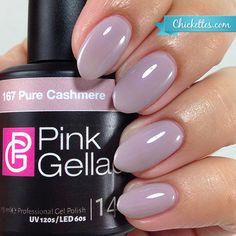 # 167 Pure Cashmere – Nails – – Herrlich Hair and Nail-Ideen Pink Shellac, Shellac Nail Art, Uv Gel Nails, Nude Nails, Nail Manicure, Manicures, Diy Nails, Nail Polishes, Matte Nails