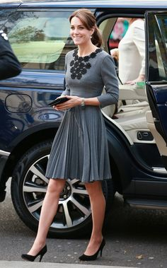 Catherine, Duchess of Cambridge arrives to meet children and mentors from Chance UK's Early Intervention Programme at Islington Town Hall on October 27, 2015 in London, England.