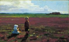 Children Picking Berries on the Moor, 1910, Einar Hein