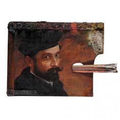 Аутопортрет на сликарској палети,Nikola Milojevic