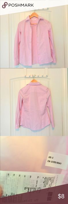 NWOT UNIQLO pink button-down shirt Brand new without tag. Uniqlo Tops Button Down Shirts
