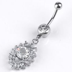 1PC 14ga Crystal Eye Dangel Belly Navel Ring Barbells Curved Steel Body Piercing [jer007801] - 2.29 : Wholesale Jewellery, Wholesale Beads, Jewellery Beads, Fashion Jewelry, Glass Beads - Ayliss Jewelry, Ayliss.co.uk