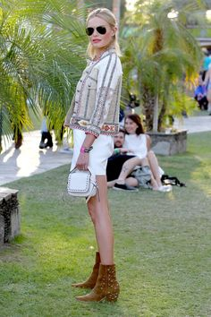 The Best Street Style From Coachella Day 2 | The Zoe Report -- Die for the boots!!! ❤️
