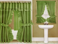 Curtain Ideas Double Swag Shower With Matching Window Cu