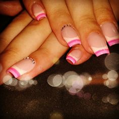 Colored french gel nails