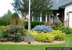 Neighborhood Entrance Landscape Plants On Pinterest Blue