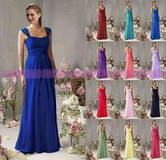 Cheap 2015 Chiffon Bridesmaid Dresses Floor Length Formal Evening dress
