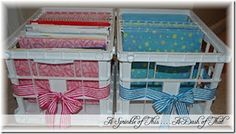 School Paper Organization Crates {A Sprinkle of This . . . . A Dash of That}