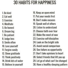 """30 Habits for happiness Law Of Attraction (@_lawofattraction_) on Instagram: """"Positivity can be looked at as a skill! Learn how to gain that skill & your road to happiness…"""""""