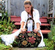 Magical MARY POPPINS Carpet Bag. $400.00, via Etsy.