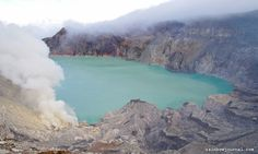 """""""Ijen Crater Lake"""" by Helminadia Ranford, via National Park Posters, National Parks, Train Vacations, Crater Lake, By Train, Double Take, Aerial Photography, Volcano, Sunrise"""
