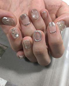 clear 暑さとclearネイル #nails #nailart #naildesign #natsunails #fashion #渋谷 #恵比寿 #instanails #春ネイル #夏ネイル #クリアネイル #ジェルネイル #ネイルアート #ネイルデザイン #ニュアンスネイル #art #ss #クリアネイル #natsunails Luv Nails, Edgy Nails, Pretty Nails, Nail Manicure, Nail Polish, Kawaii Nails, Nail Tattoo, Nail Time, Japan Nail